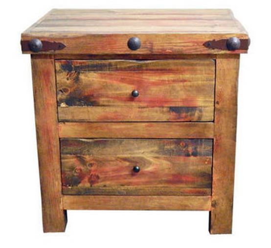 Million Dollar Rustic Red Rubbed Bedroom Nightstand-02-2-56-55-NS
