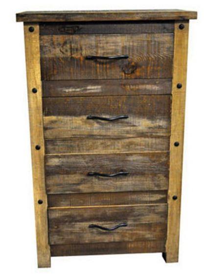 Million Dollar Rustic Slatted Wood Chest-02-2-65-65-C