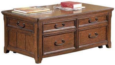 Signature Design by Ashley® Woodboro Dark Brown Lift Top Coffee Table-T478-20