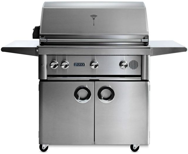 """Lynx® Professional 36"""" Stainless Steel Freestanding Smart Grill-SMART36F-NG"""