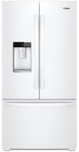 Whirlpool® 24 Cu. Ft. Counter Depth French Door Refrigerator-White-WRF954CIHW