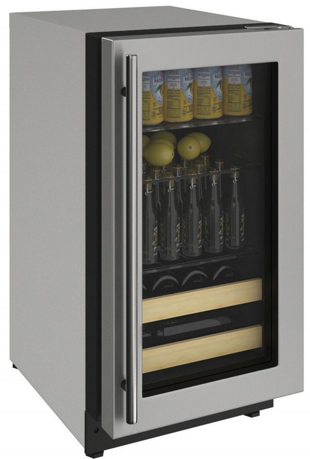 U-Line® 2000 Series 3.4 Cu. Ft. Stainless Steel Beverage Center-2218BEVS-00A