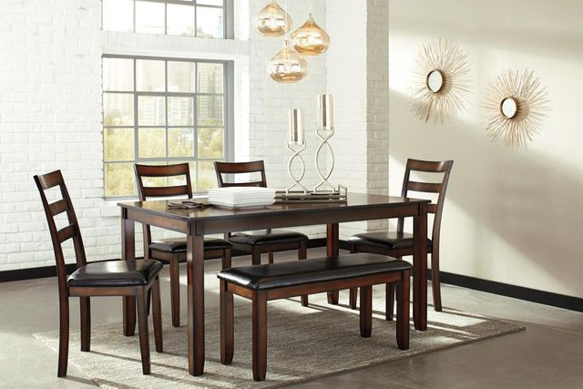 Signature Design by Ashley® Coviar Brown 6 Piece Dining Table Set-D385-325