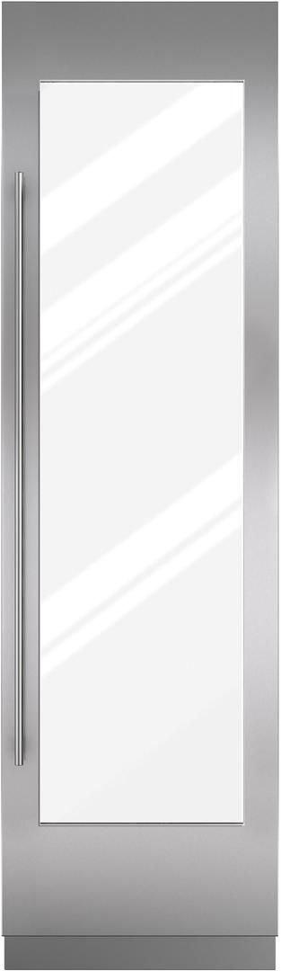"Sub-Zero® 24"" Integrated Stainless Steel Wine Storage Door Panel with Tubular Handle-7025384"