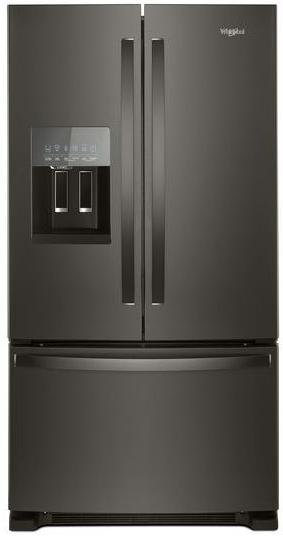 Whirlpool® 25 Cu. Ft. French Door Refrigerator-Fingerprint Resistant Black Stainless-WRF555SDHV