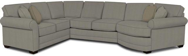 England Furniture Co. Brantley 4 Piece Culpepper Cement/Alvarado Mineral/Shaker Seaglass Sectional-5630-28-22-43-95+8612+7965+8601