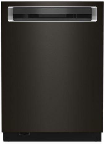 "KitchenAid® 24"" PrintShield™ Black Stainless Steel Built In Dishwasher-KDPM604KBS"
