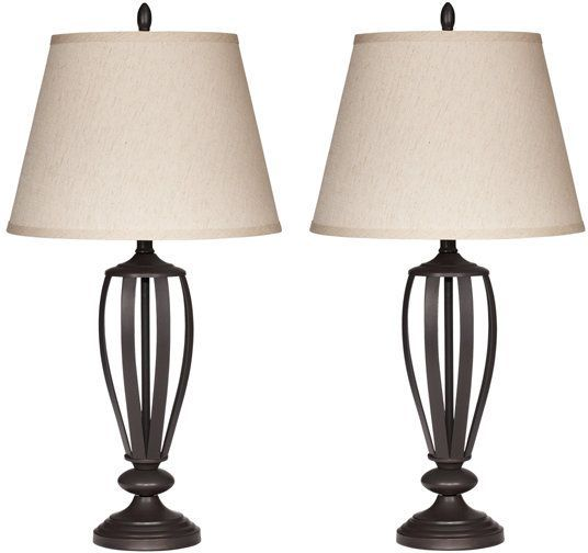Signature Design by Ashley® Mildred Set of 2 Bronze Table Lamps-L201944