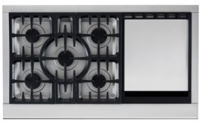 """DCS Professional 48"""" Gas Cooktop-Stainless Steel-CPU-485GD-L"""