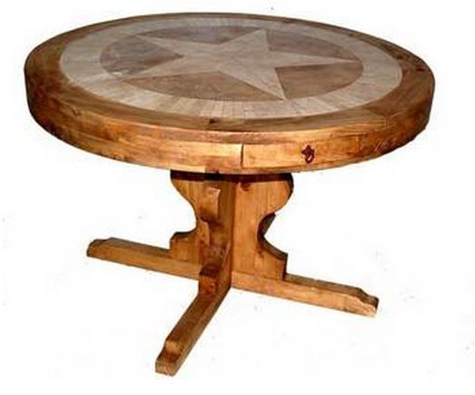 Million Dollar Rustic Dining Room Round Marble Star Table-03-1-10-1-1-MTX