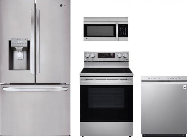 LG 4 Piece Kitchen Package-Stainless Steel-LGKITLREL6323S