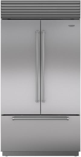 Sub-Zero® 24.7 Cu. Ft. Stainless Steel Built In French Door Refrigerator-BI-42UFD/S/PH
