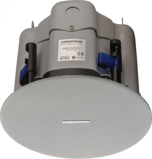 "Crestron® Saros® 4"" 2-Way In-Ceiling Speaker-White-SAROS IC4T-W-T-EACH"