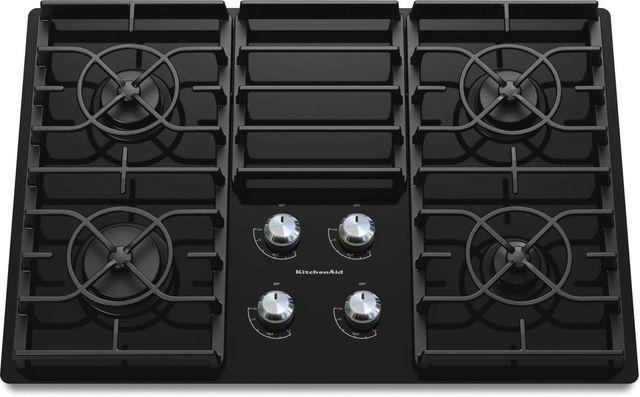 "KitchenAid® Architect® Series II 30"" Black Gas Cooktop-KGCC506RBL"