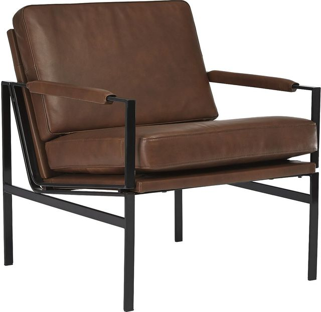 Signature Design by Ashley® Puckman Brown/Silver Accent Chair-A3000193