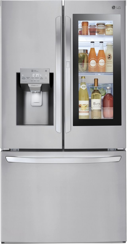 Réfrigérateur à portes françaises de 36 po LG® de 27,5 pi³ - Acier inoxydable-LFXS28596S