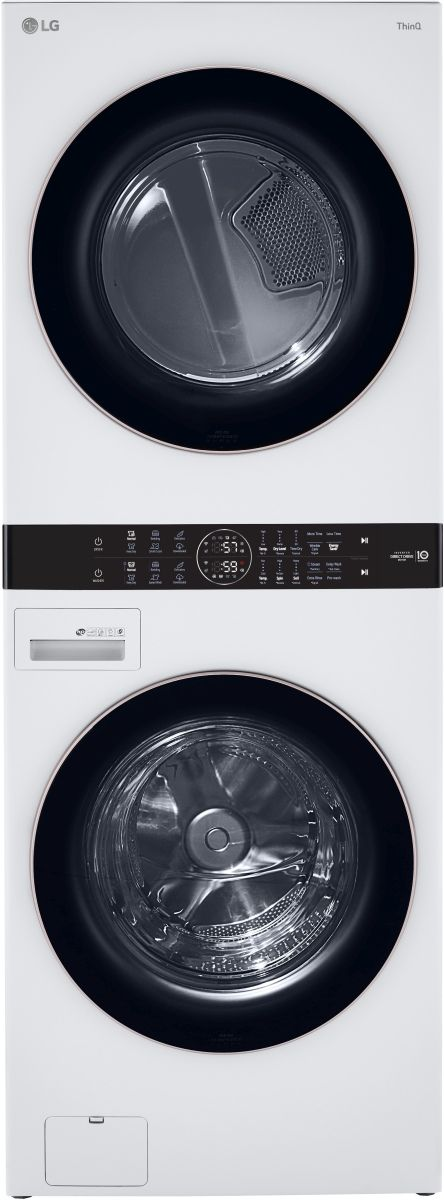"""LG 27"""" White Stackable Washer and Dryer -WKE100HWA"""
