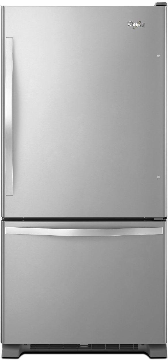 Whirlpool® Gold® 22.07 Cu. Ft. Bottom Freezer Refrigerator-Stainless Steel-WRB322DMBM