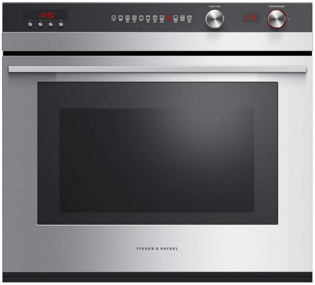 """Fisher Paykel 30"""" Electric Single Oven Built In-Brushed Stainless Steel-OB30STEPX3 N-OB30STEPX3 N"""