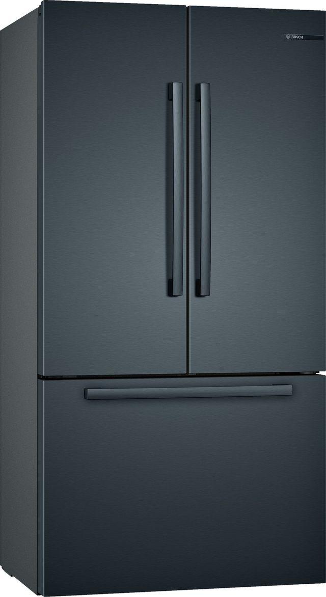 Bosch 800 Series 21 Cu. Ft. Black Stainless Steel French Door Bottom Freezer Refrigerator-B36CT80SNB