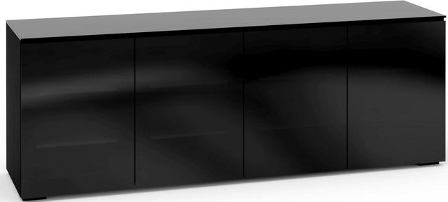 Salamander Designs® Oslo 347 AV Cabinet-Black Glass-C/OS347/BG