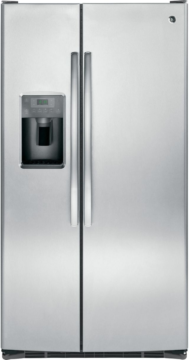GE® 25.3 Cu. Ft. Stainless Steel Side-By-Side Refrigerator-GSS25GSHSS
