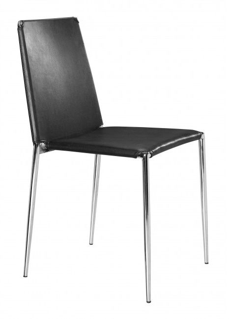 Zuo® Alex Black Set of 4 Dining Chairs-101105