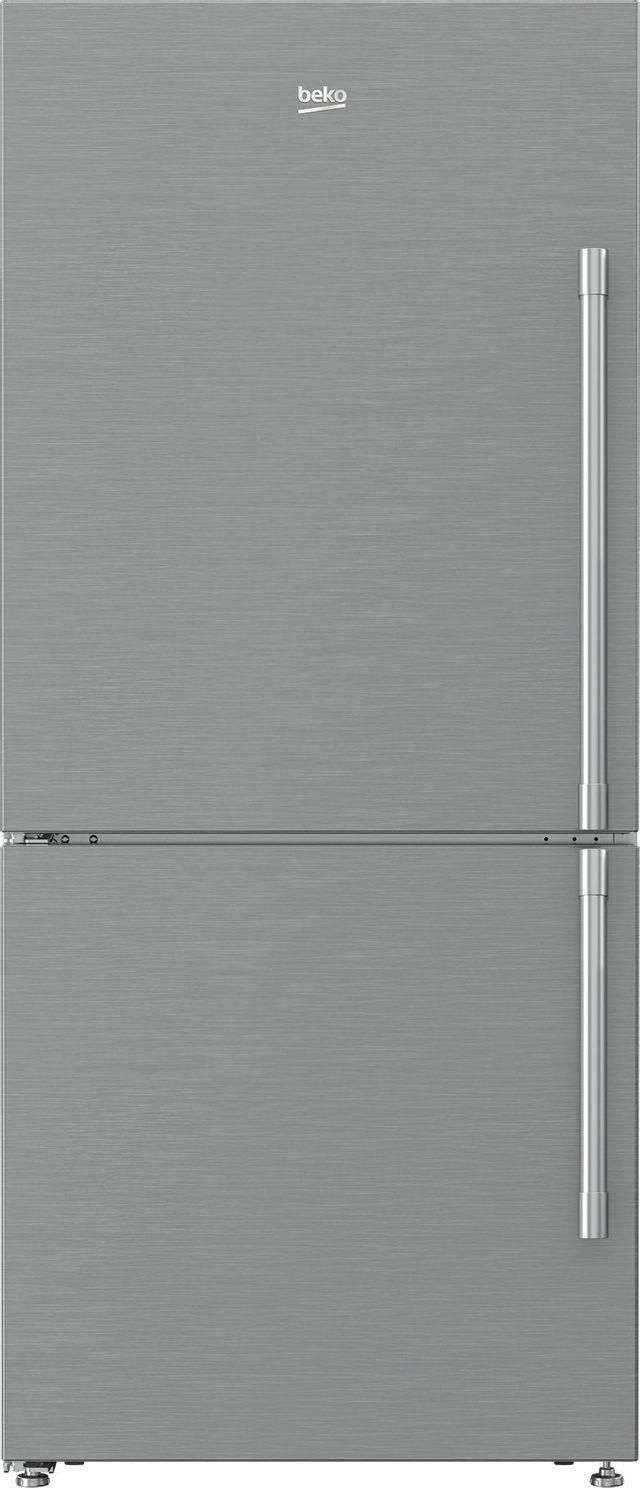 Beko 16.2 Cu. Ft. Fingerprint Free Stainless Steel Freestanding Bottom Freezer Refrigerator-BFBF3018SSIML