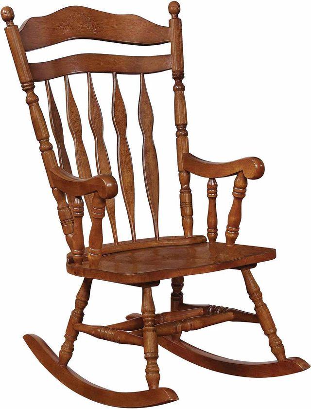 Coaster® Medium Brown Rocking Chair-600187