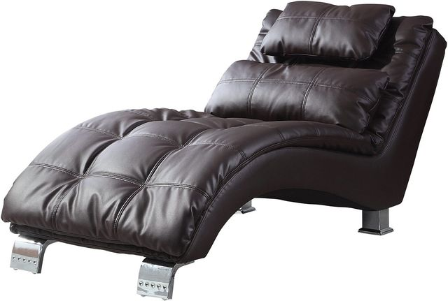 Coaster® Dilleston Brown Upholstered Chaise-550076