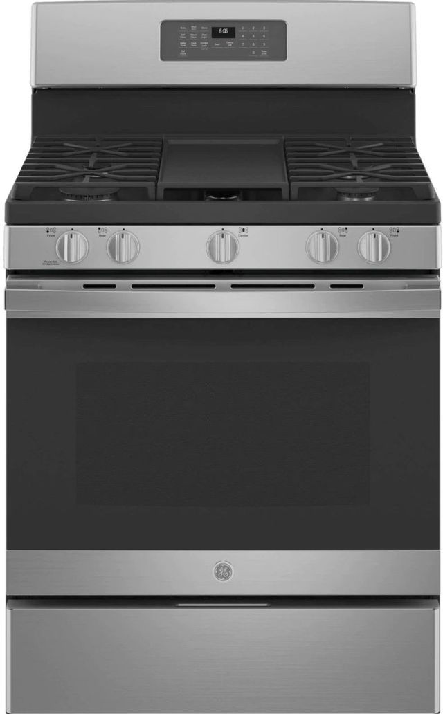 """GE® 30"""" Stainless Steel Free Standing Natural Gas Range-JGB660SPSS"""