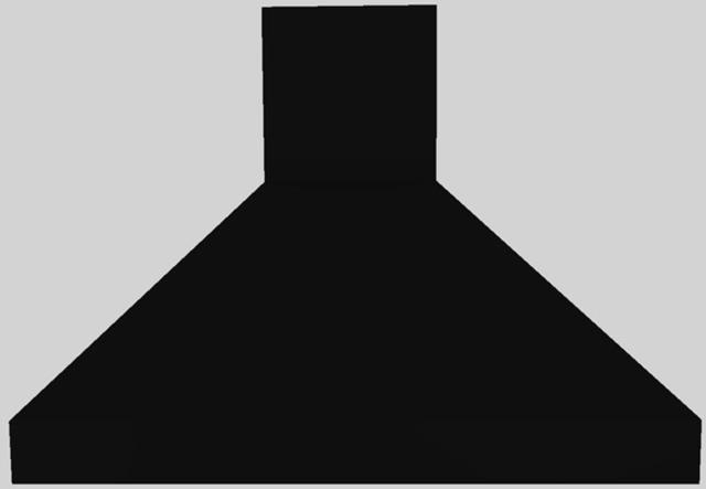 "Vent-A-Hood® 42"" Euro-Style Island Range Hood-Black-EPIH18-242 BL"