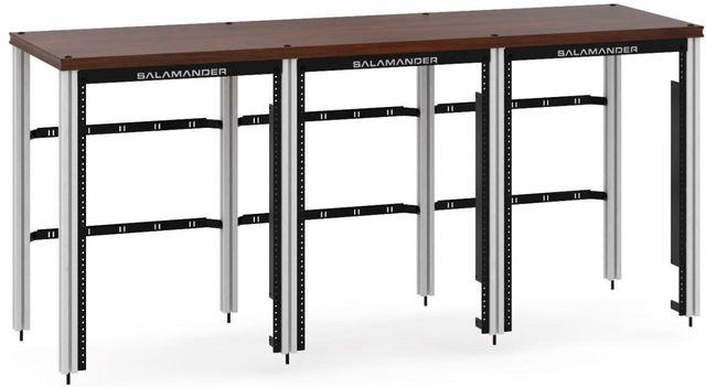 Salamander Designs® Synergy Triple 30 Extension Rack-Dark Walnut/Aluminum-SLX30RMW/A