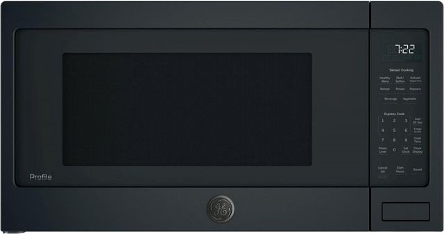GE Profile™ 2.2 Cu. Ft. Black Slate Countertop Sensor Microwave Oven-PES7227FMDS