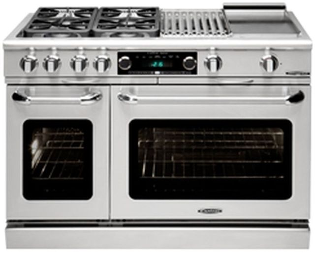"""Capital Connoisseurian 60"""" Stainless Steel Free Standing Dual Fuel Range-CSB606BGL"""