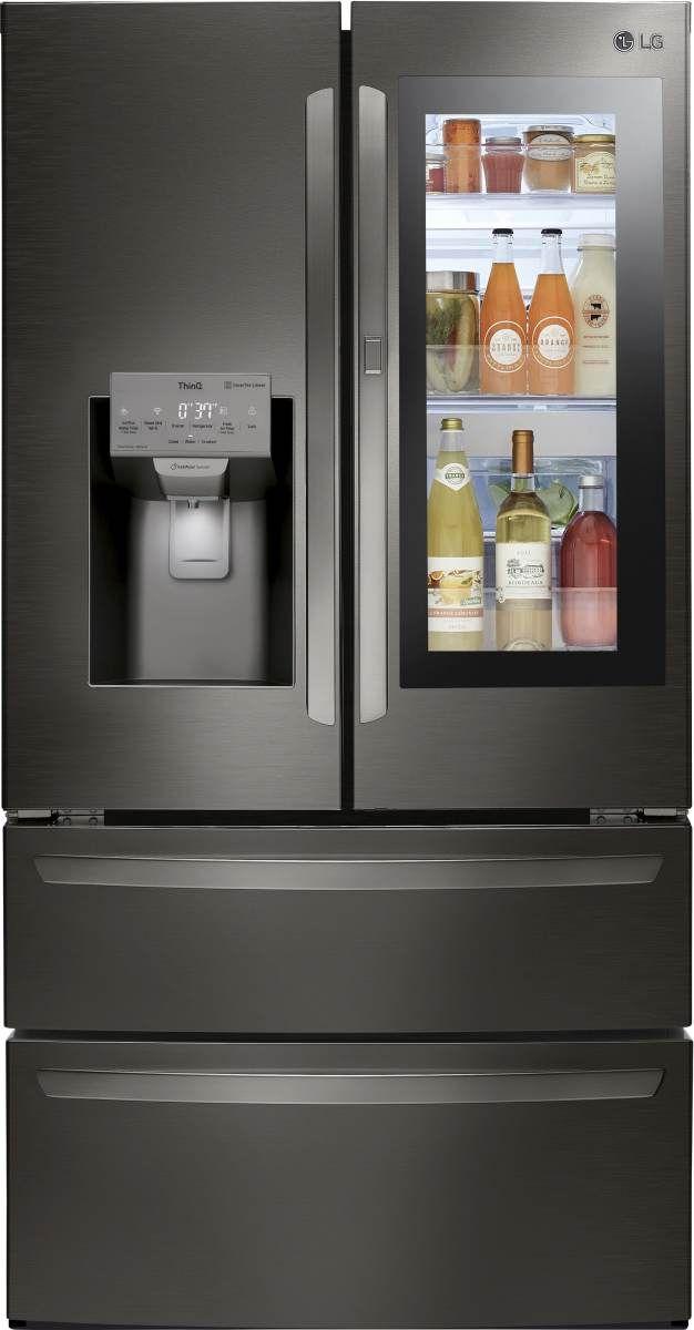 LG 27.60 Cu. Ft. PrintProof™ Black Stainless Steel French Door Refrigerator-LMXS28596D