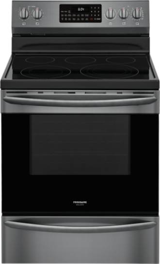 """Frigidaire Gallery® 30"""" Smudge Proof® Black Stainless Steel Freestanding Electric Range-GCRE306CAD"""