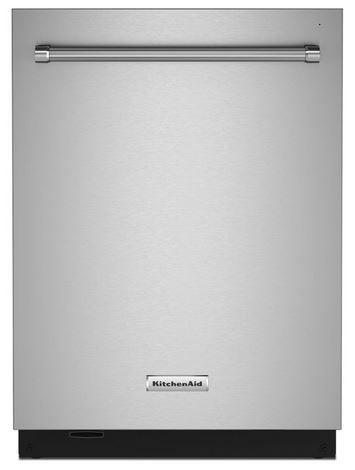 """KitchenAid® 24"""" PrintShield™ Stainless Steel Built In Dishwasher-KDTM604KPS"""