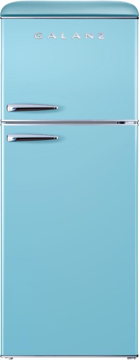 Galanz 10 Cu. Ft. Bebop Blue Retro Top Mount Refrigerator-GLR10TBEEFR