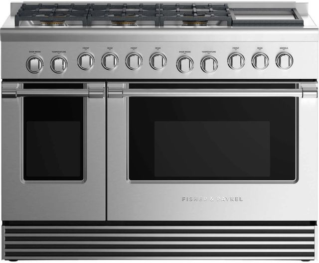 """Fisher & Paykel 48"""" Pro Style Duel Fuel Range-Stainless Steel-RDV2-486GDN N"""