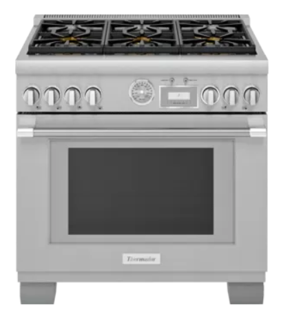 """Thermador® Pro-Grand® Series 36"""" Stainless Steel Pro Style Dual Fuel Range-PRD366WGC"""