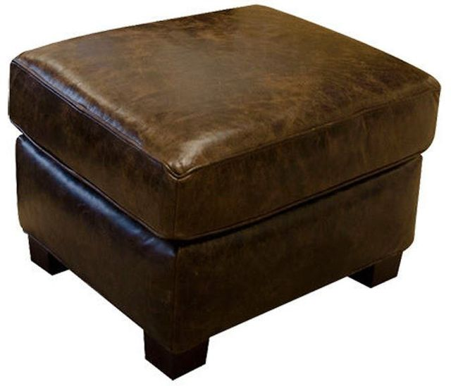 England Furniture® Lillian Leather Ottoman-3C07AL