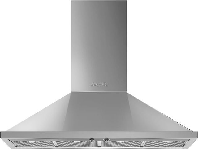 "Smeg Portofino Aesthetic 48"" Stainless Steel Wall Mounted Range Hood-KPF48UX"