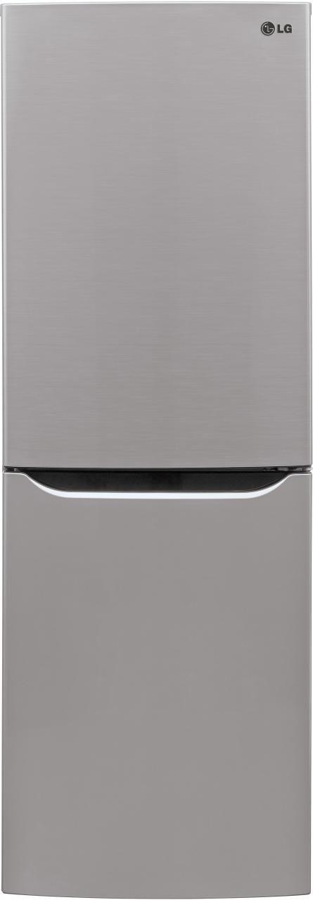 LG 10.1 Cu. Ft. Platinum Silver Bottom Freezer Refrigerator-LBNC10551V