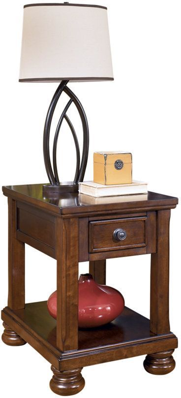 Signature Design by Ashley® Porter Rustic Brown Chair Side End Table-T697-3