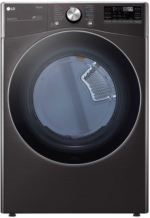 LG 7.4 Cu. Ft. Black Steel Front Load Electric Dryer-DLEX4200B