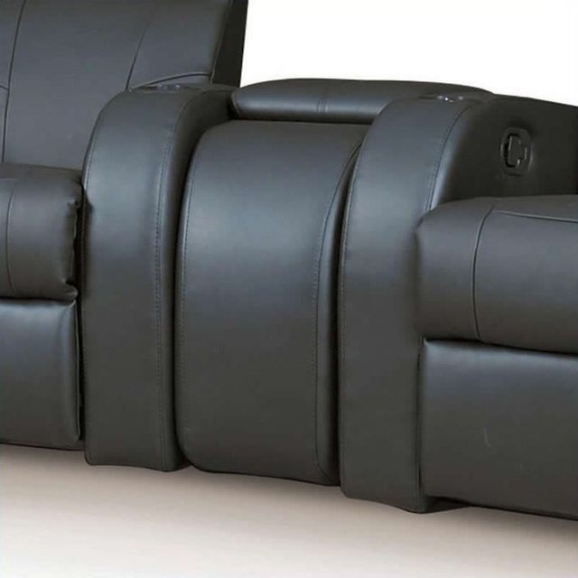 Coaster® Cyrus Home Theater Upholstered Console Black-600002