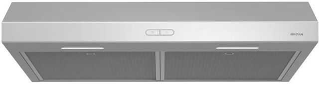 "Broan® Glacier BCDF1 Series 30"" Under Cabinet Range Hood-Stainless Steel-BCDF130SS"