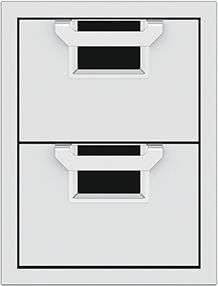 """Aspire By Hestan AEDR Series 16"""" Stealth Double Drawers-AEDR16-BK"""