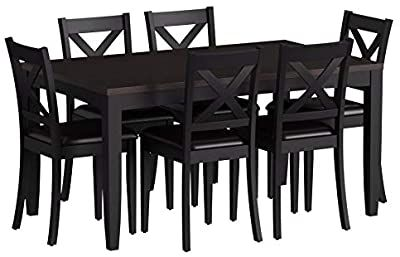 Liberty Furniture Thornton II 7 Piece Black Rectangular Table Set-464-CD-7RLS